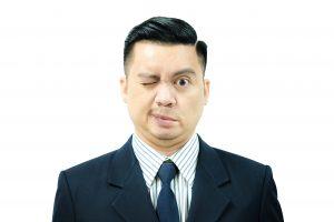 דיקור סיני לפציאליס, תמונה של גבר עם שיתוק פנים