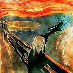 הצעקה של מונק - בעיות נפשיות