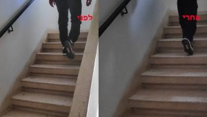 לפני ואחרי בטיפול לכאב גב תחתון ושיקום הליכה ויציבה